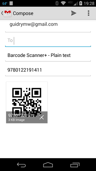 string qr code email with subject